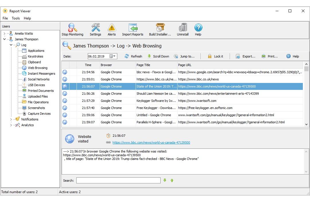 Internet monitoring - Free Keylogger Software - IwantSoft